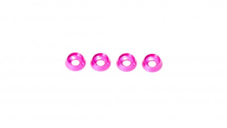 M3 x 8 x 2.5MM Countersink Washers for Button Head Screws - Pink (4pcs)