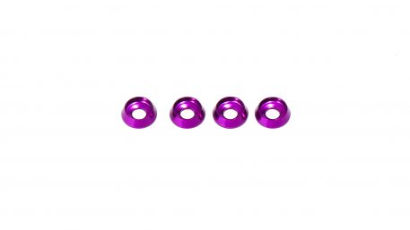 M3 x 8 x 2.5MM Countersink Washers for Button Head Screws - Purple (4pcs)