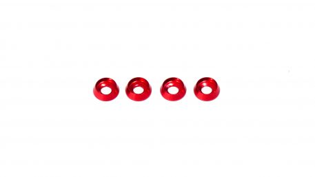 M3 x 8 x 2.5MM Countersink Washers for Button Head Screws - Red (4pcs)