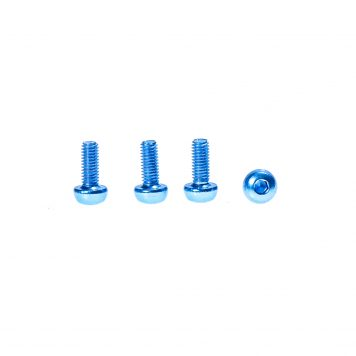 M3 x 8MM Aluminum Socket Button Head Metric Screws – Blue (4pcs)