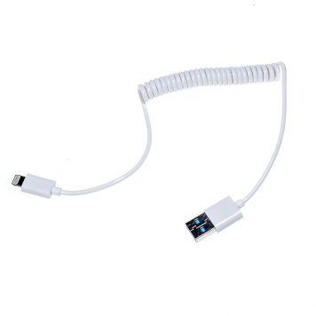 10 Inch Lightning to USB Coiled Cable - Perfect Size for Phantom 4 DJI Inspire 1Phantom 3 Remote Control with iPad iPhone iPod