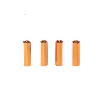 M3 20MM Standoff - Aluminum Hex - Spacer - Orange (4pcs)