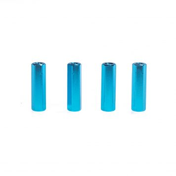 M3 20MM Standoff - Aluminum Hex - Spacer Blue X 4