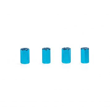 M3 x 10MM Aluminum Hex Standoff - Blue (4pcs)