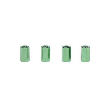 M3 x 10MM Aluminum Hex Standoff - Green (4pcs)