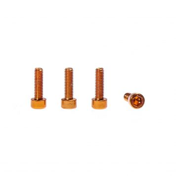 M3 x 10MM Aluminum Socket Cap Head Metric Screws - Orange (4pcs)