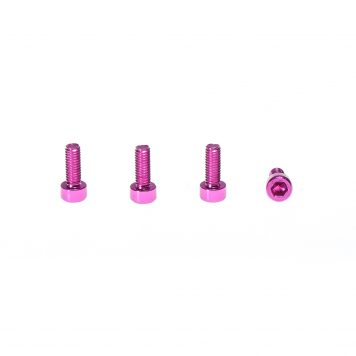 M3 x 10MM Aluminum Socket Cap Head Metric Screws - Pink (4pcs)