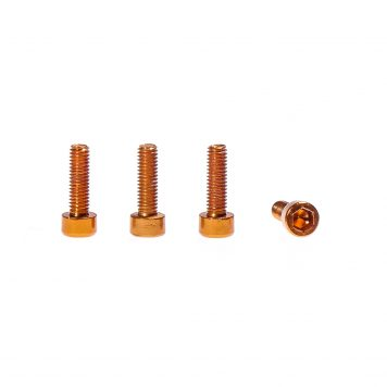 M3 x 12MM Aluminum Socket Cap Head Metric Screws - Orange (4pcs)
