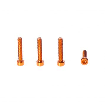 M3 x 16MM Aluminum Socket Cap Head Metric Screws – Orange (4pcs)