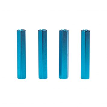 M3 x 30MM Aluminum Hex Standoff - Blue (4pcs)