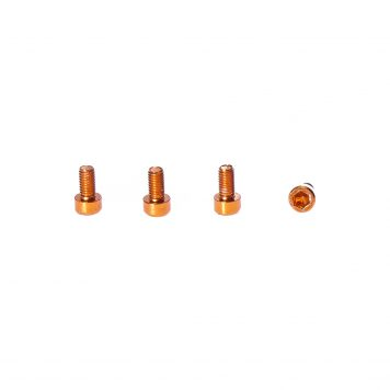 M3 x 6MM Aluminum Socket Cap Head Metric Screws - Orange (4pcs)