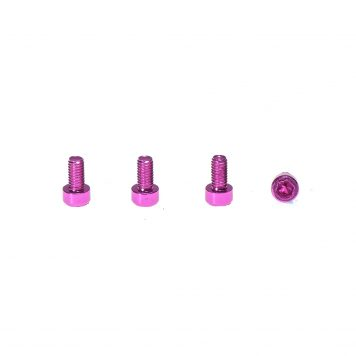 M3 x 6MM Aluminum Socket Cap Head Metric Screws - Pink (4pcs)