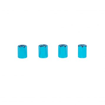 M3 x 8MM Aluminum Hex Standoff - Blue (4pcs)