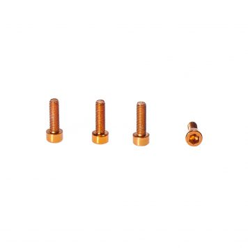 M3 x 8MM Aluminum Socket Cap Head Metric Screws - Orange (4pcs)