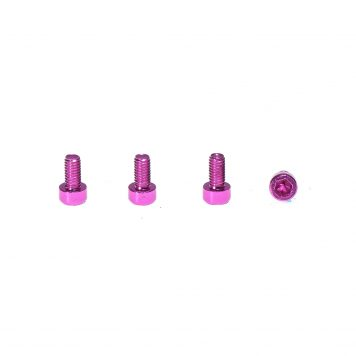 M3 x 8MM Aluminum Socket Cap Head Metric Screws - Pink (4pcs)