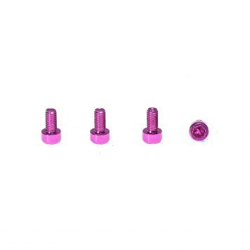 M3 x 8MM Aluminum Socket Cap Head Metric Screws - Pink (4pcs)