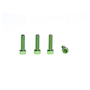 M3 x 10MM Aluminum Socket Cap Head Metric Screws - Green (4pcs)