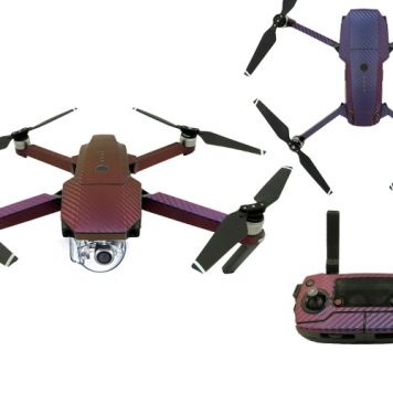 DJI Mavic Pro Decal Protective Carbon Fiber Wrap - Purple