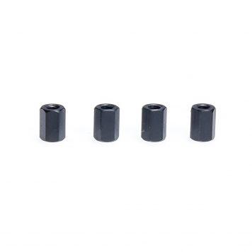 M3 x 10MM Standoff - Aluminum Hex Standoff Black (4 pcs)